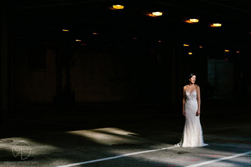 artsy-bride-underpass-portrait-shadows-moody-dark-river-north-chicago-wedding-photographer-rotarski-photography