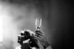 wedding day couple toast