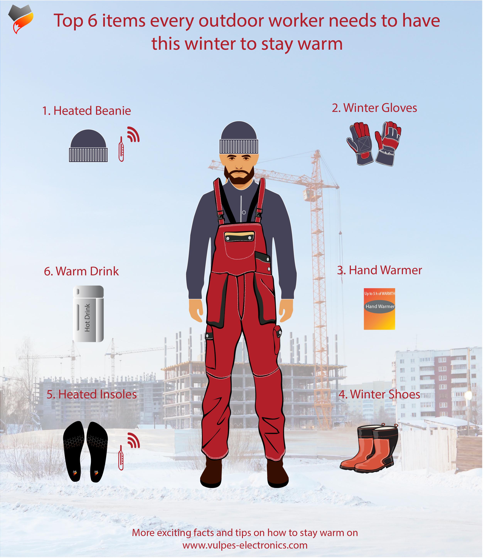 Arbeiter in Winter
