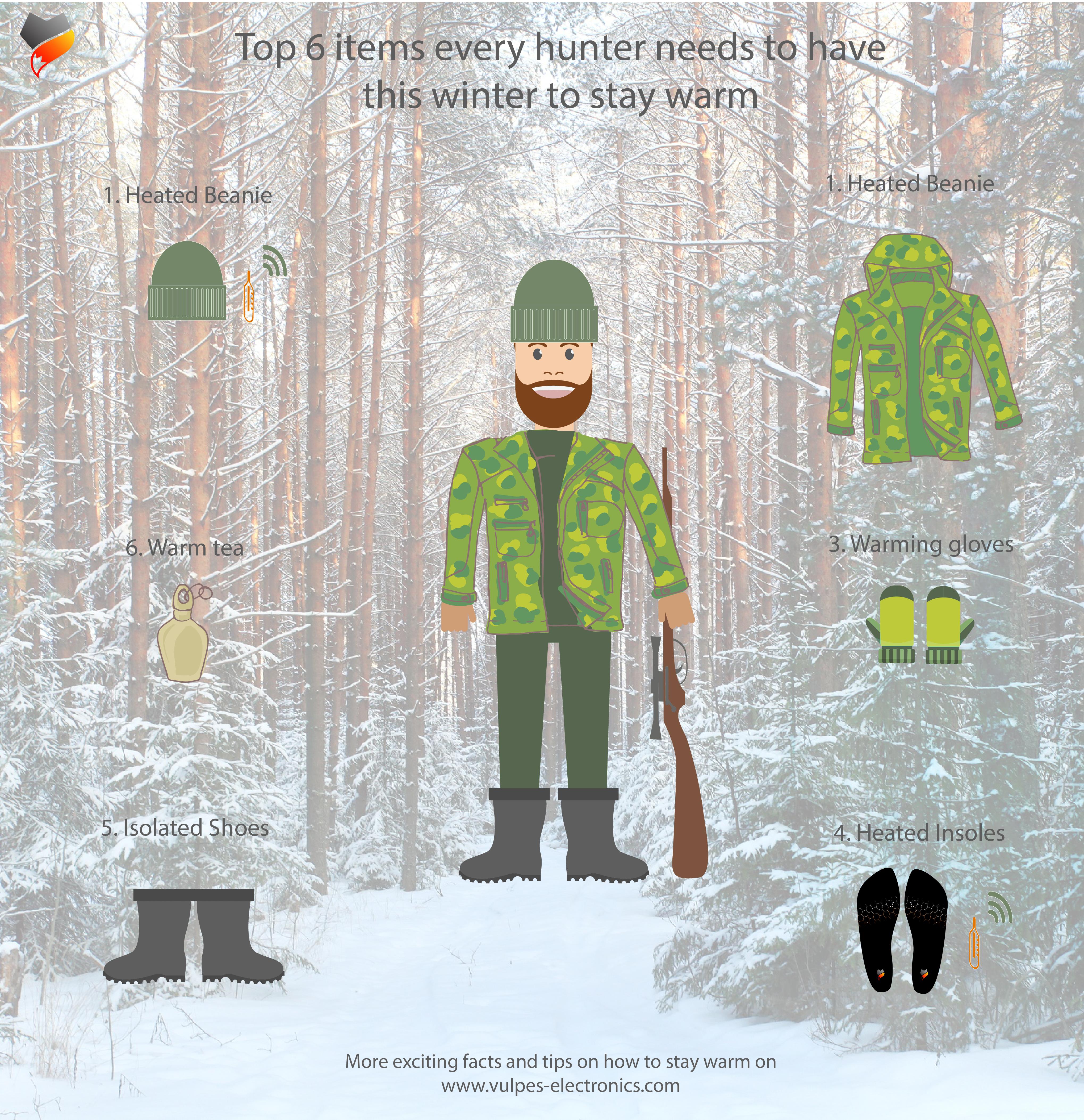 Jäger im Winter