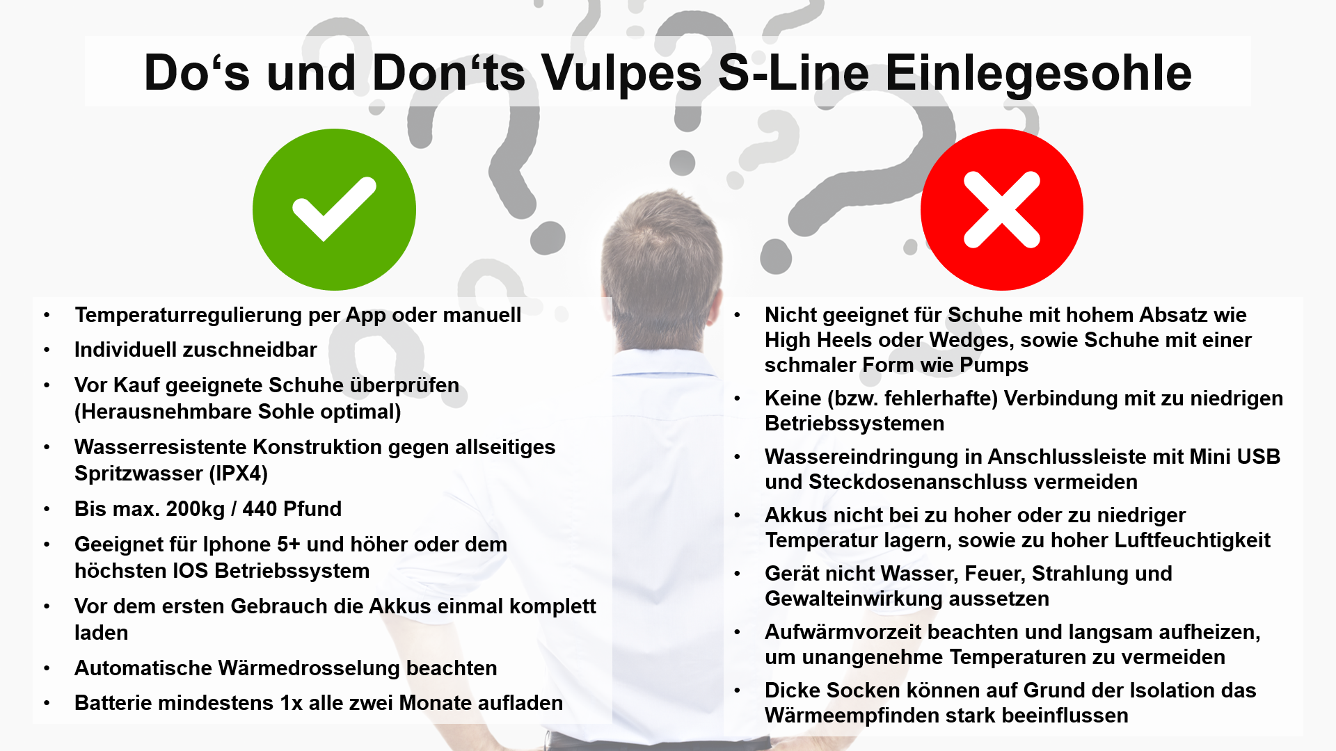 Do's und Don'ts Vulpes S-Line