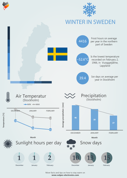 Winter in Sweden- Inforgraphic