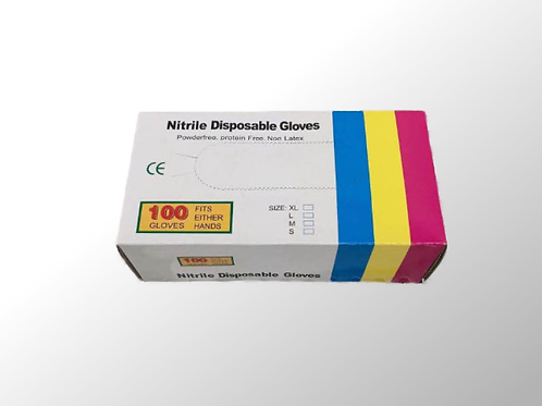 Einweghandschuhe (nitril, puderfrei, unsteril) | 100 Stk. |