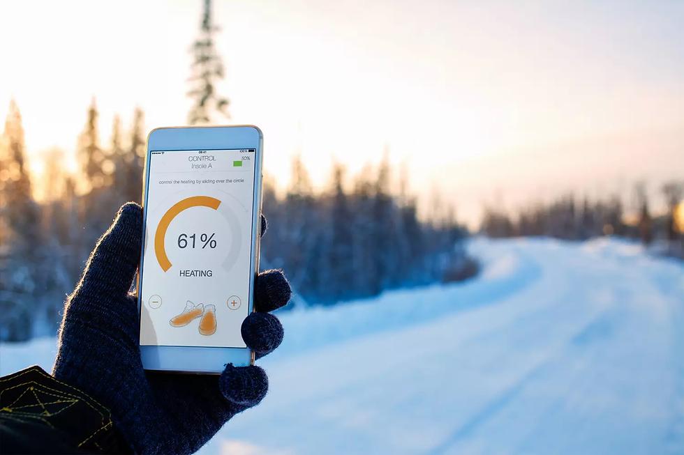 Vulpés S-Line PLUS - intelligente beheizbare Einlegesohlen mit Smartphone Steuerung