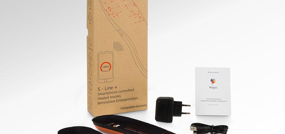 Vulpés S-Line PLUS - Intelligente beheizbare Einlegesohlen