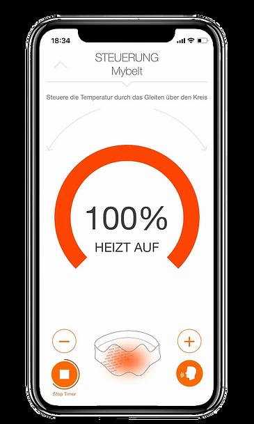 Vulpés Nierengurt - beheizbarer Nierenwärmer mit Smartphone Steuerung