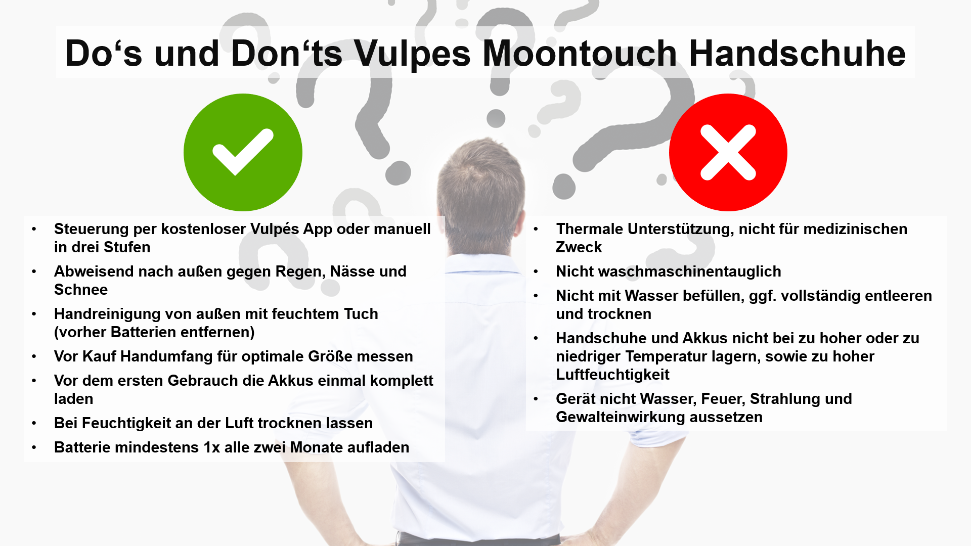Do's und Don'ts Vulpes Moontouch