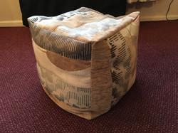 16 inch slouchy cube pouffe