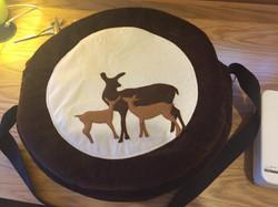 16 inch velvet drum bag