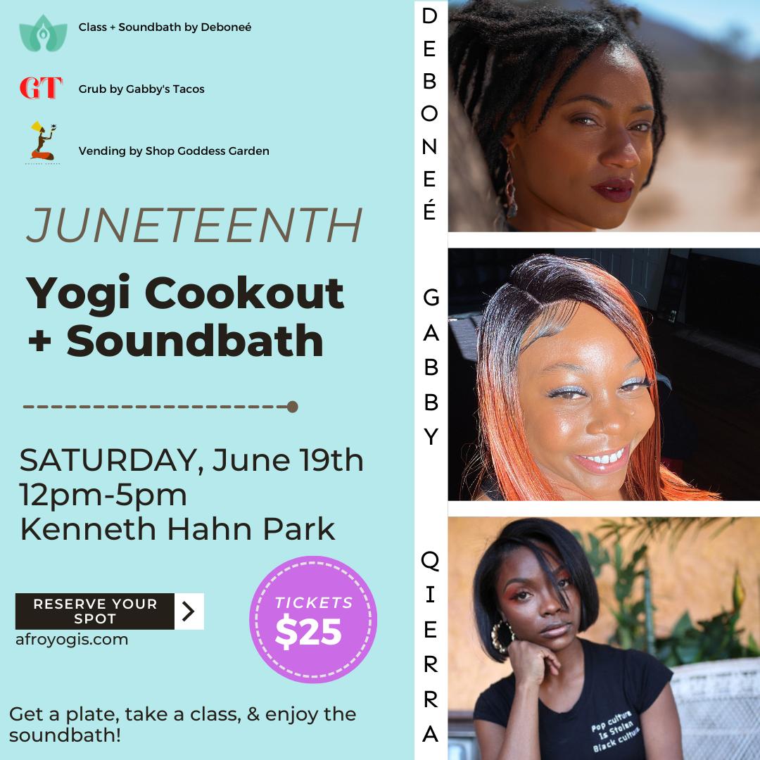 JUNETEENTH YOGI COOKOUT + SOUNDBATH