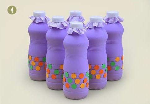 Boliche de garrafa de iogurte