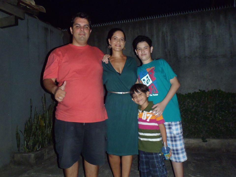 Letícia e sua família