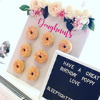 My gorgeous doughnut wall had her first