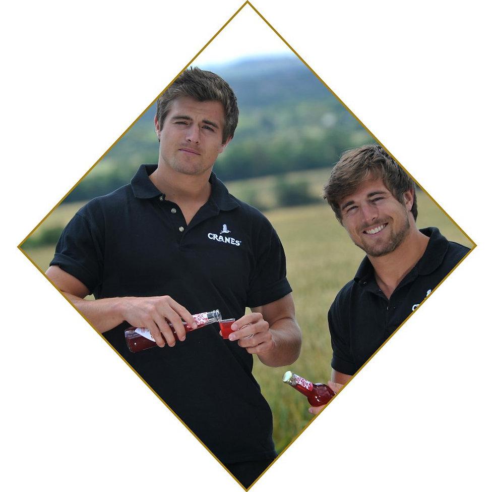 Cranes Fruit Cider Co-founders