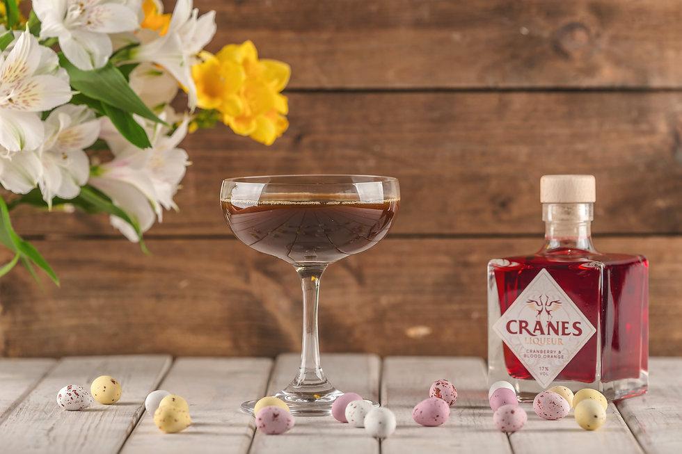 Cranes Liqueur - Mocha Martini Cocktail