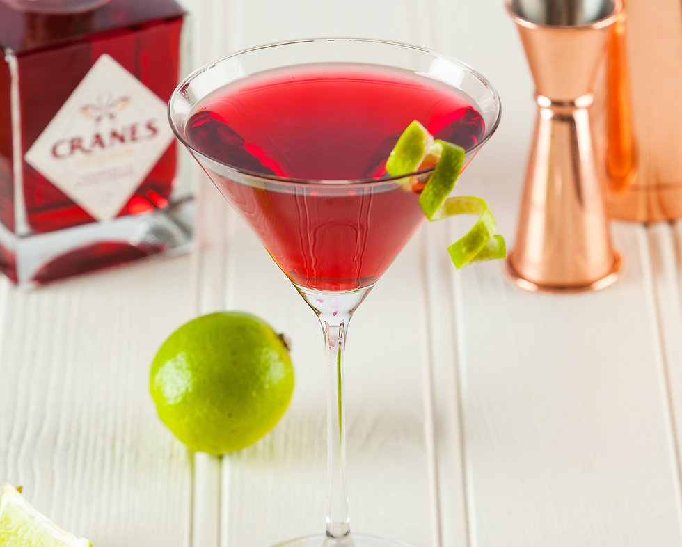 Cranes Liqueur - Martini Cocktail