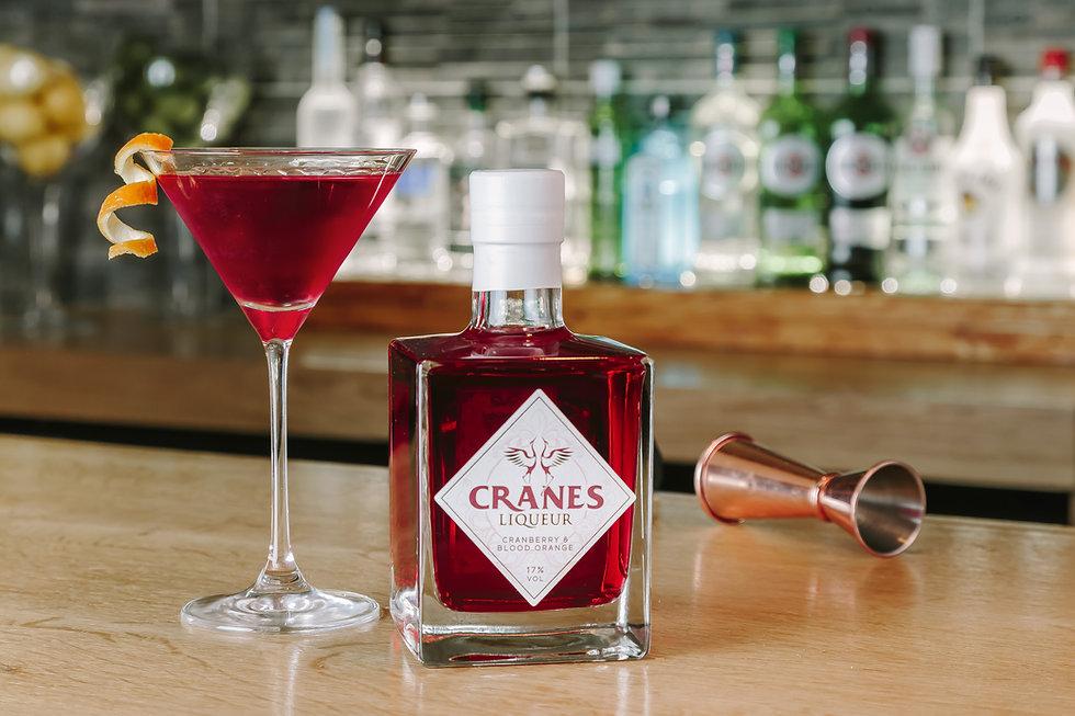 Cranes Liqueur Cosmo Cocktail