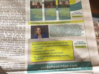Neighborhood Gazette with candidate surveys available