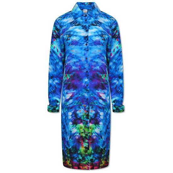 Jewel Print Summer Shirt Dress