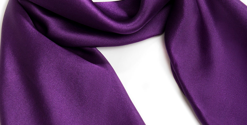 Border Print Purple Scarf