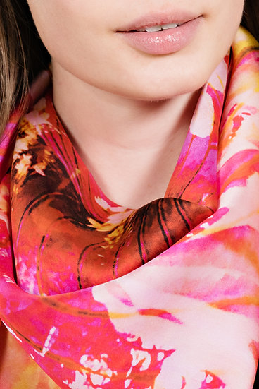 Butterfly Pink Twill Scarf