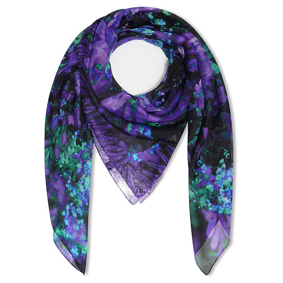 Winter Purple Chiffon Rectangle Scarf