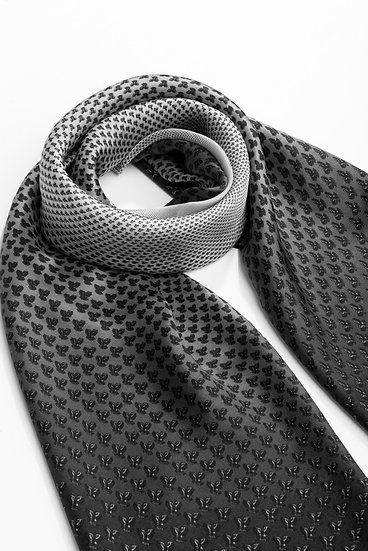 Laura Classic Black and White Square Scarf