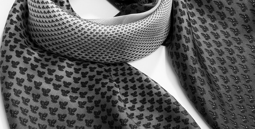 Laura Classic Black and White Rectangle Scarf