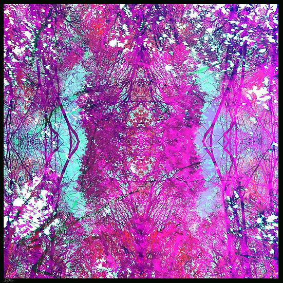 Woodland Purple Square Scarf