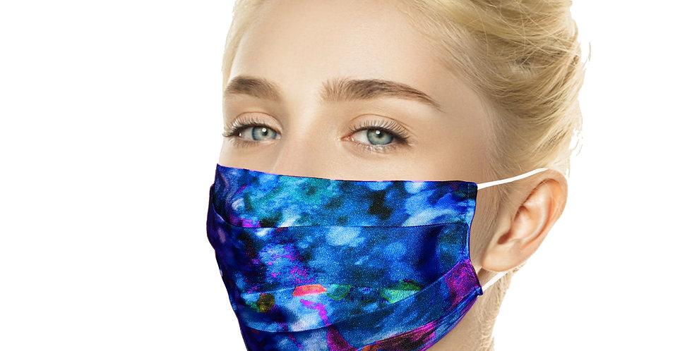 Blue Silk Reusable Silk Mask