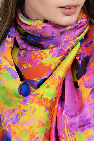Butterfly Neon Rectangle Scarf