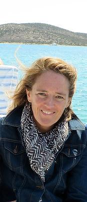 Rosemary Mahoney Writing potrait near the sea