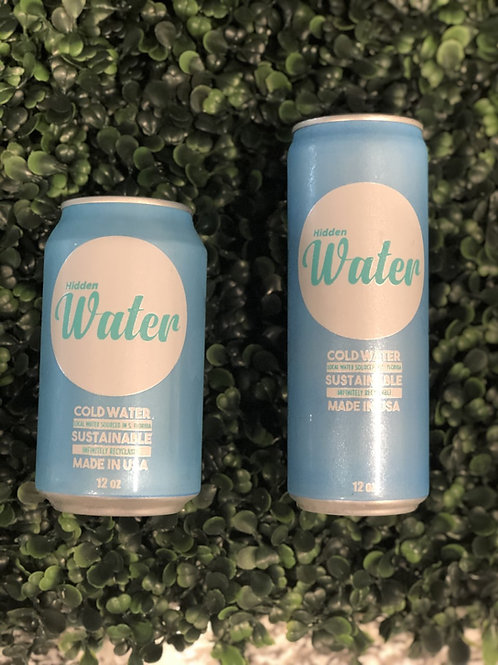 Pallet of Hidden Water Sleek Cans