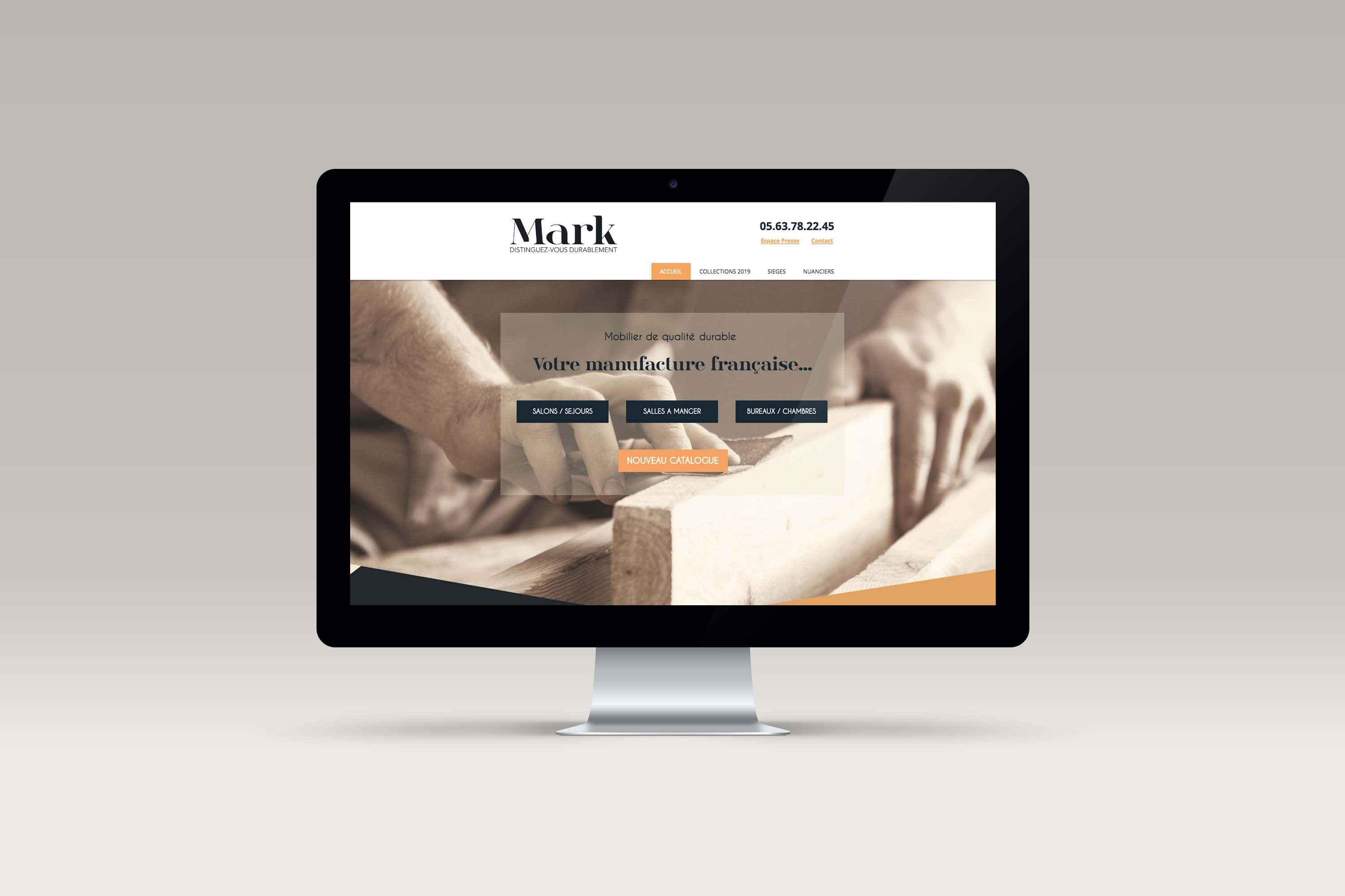 Site web MARK mobilier