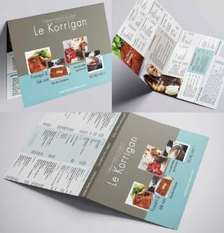 Crêperie Le Korrigan : nouveau design pour la carte des crêpes !