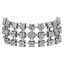 """Boutique"" Collection Geometric Three-Row Diamond Bracelet"