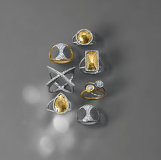 Gold and Pave Rings