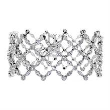 Round and Marquise Diamond Criss-Cross Cuff Bracelet