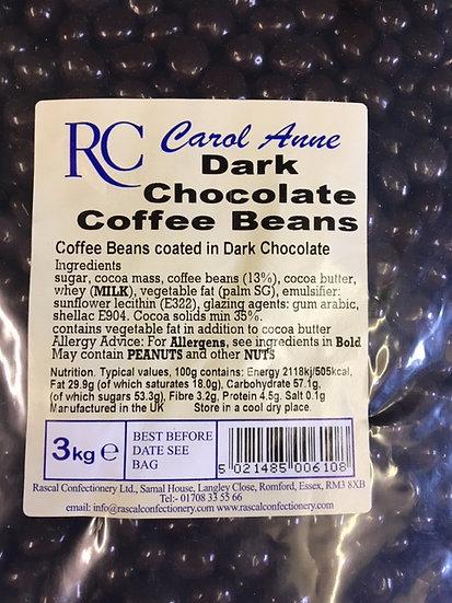 Dark Chocolate Coffee Beans x300gr