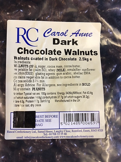Dark Chocolate Walnuts x300gr