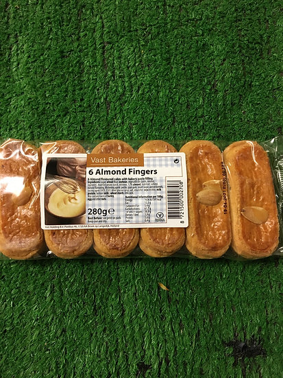 Almond fingers £1.25