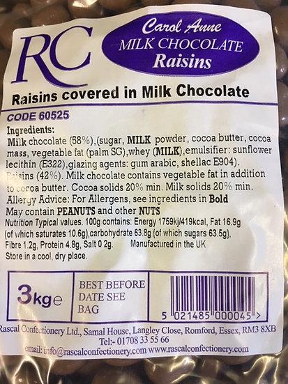 Milk Chocolate Raisins x 325gr