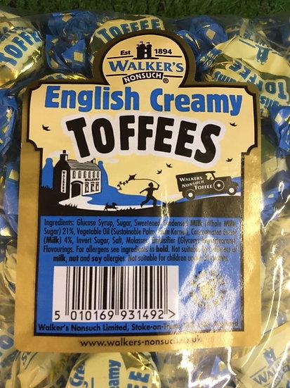 Walkers English Creamy Toffee x 250gr
