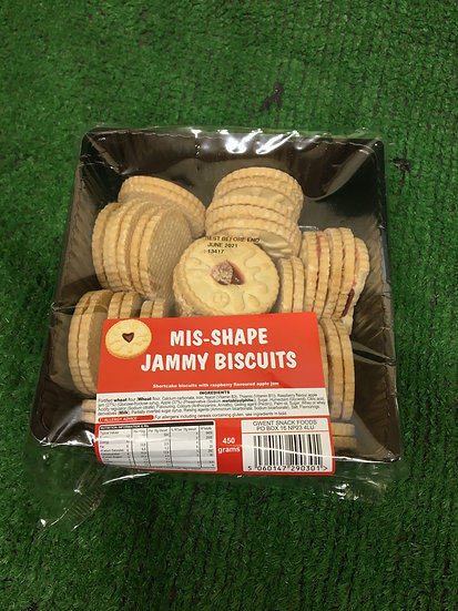 Mis-shape Jammy Biscuits (x 450gr)-£1.25