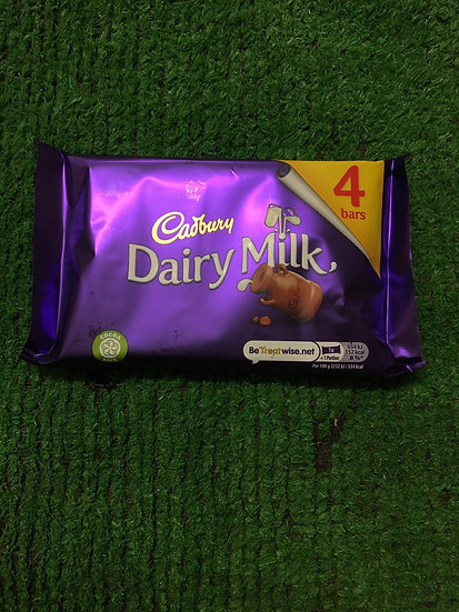 Dairy Milk ( 4 x 29.3gr pack)-£1.25