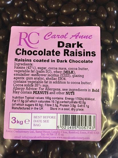 Dark Chocolate Raisins x325gr