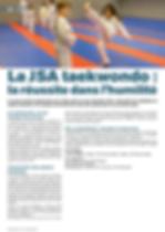 JSA Taekwondo - Allonnes Info - Janvier