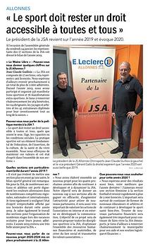 JSA Omnisports - Bilan 2019 - 28.02.2020