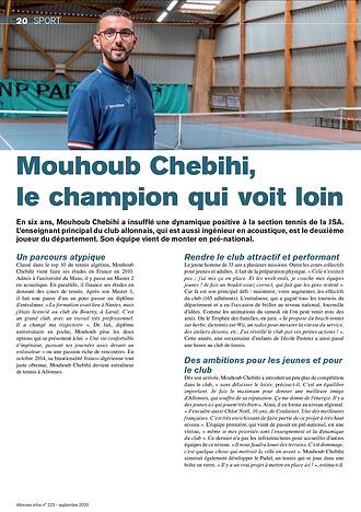 JSA Tennis - M.Chebihi - Allonnes Info S