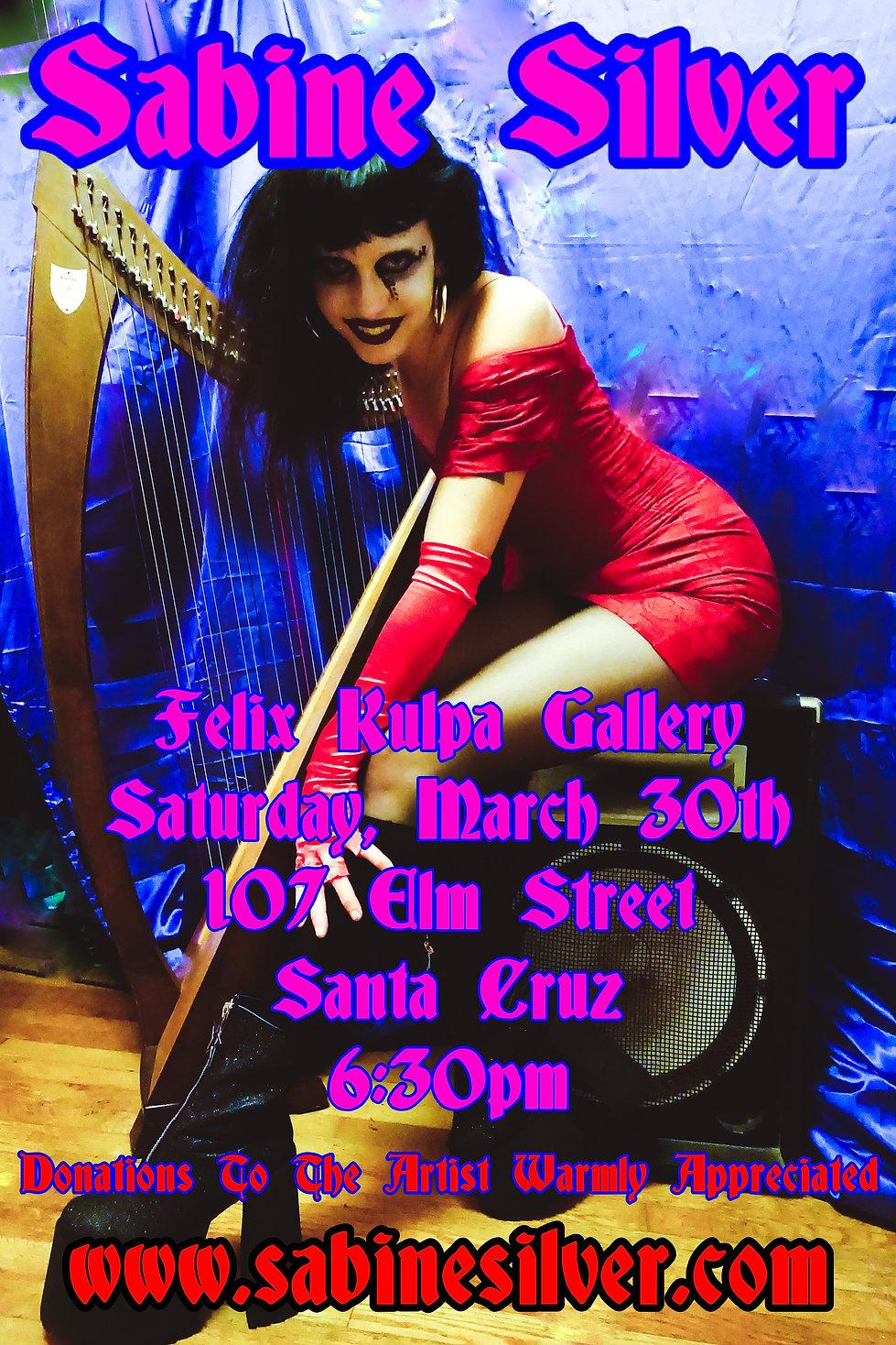 Felix Kulpa Gallery 3_30_2019 Show Flyer
